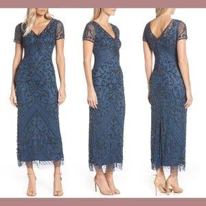 NEW $238 Pisarro Nights Beaded Longline Gown in Co